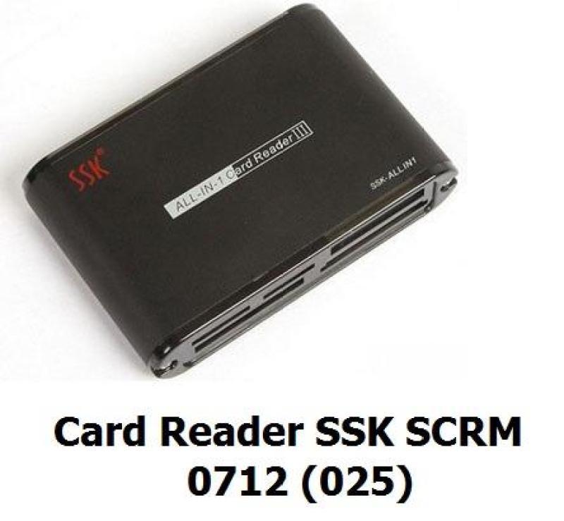 Đầu đọc thẻ nhớ đa năng SSK All In 1 Card Reader 0712