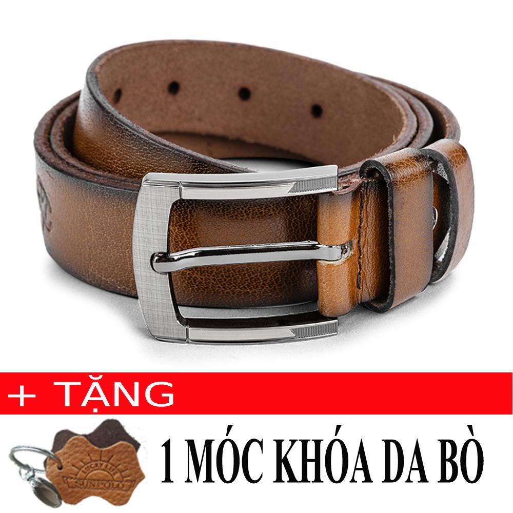 Bán Thắt Lưng Nam Da Bo Sunpolo Bs22B Nau Bo Tặng Moc Khoa Da Bo Nhập Khẩu