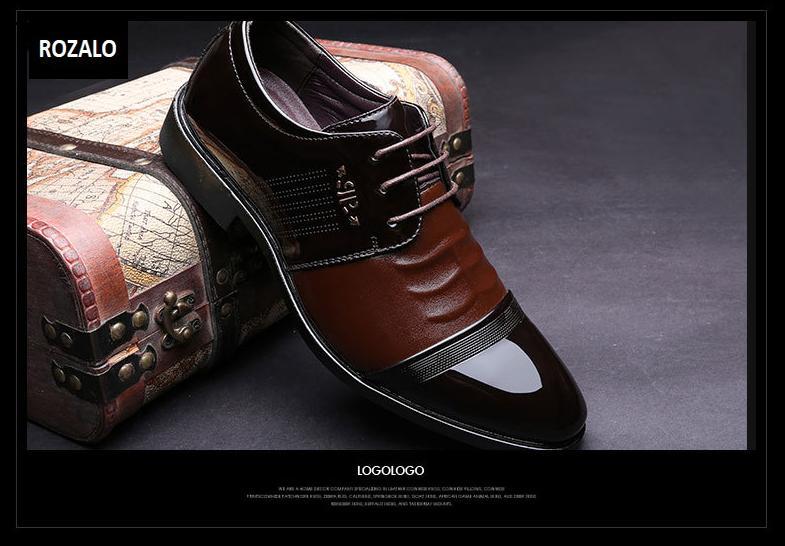 Giày tây da nam đế cao Rozalo RM51913N-Nâu