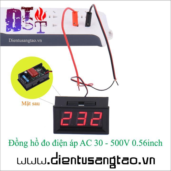 Hình ảnh Đồng hồ đo điện áp AC 30 - 500V 0.56inch