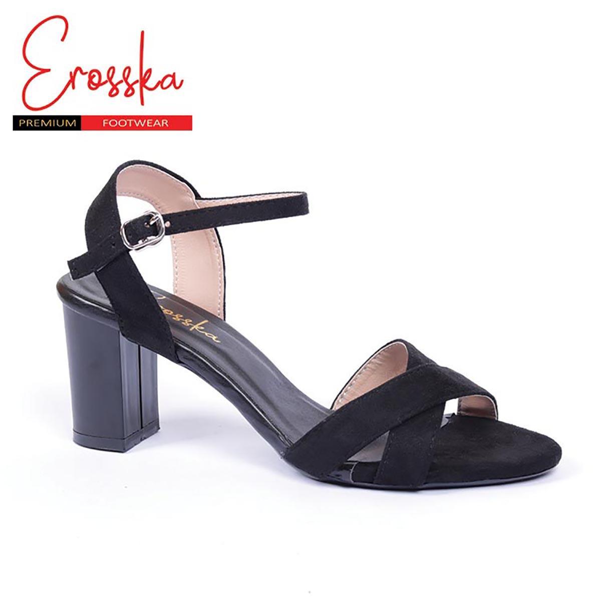 Giày Cao Gót Đế Vuông Erosska - ER012 (Màu Đen)