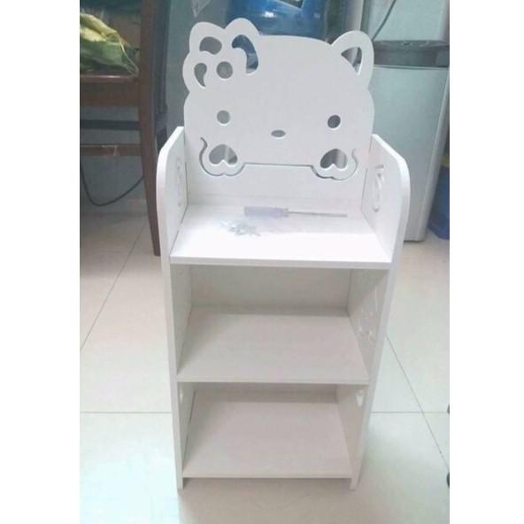 KỆ GỖ MÈO KITTY 3 TẦNG -TRẮNG