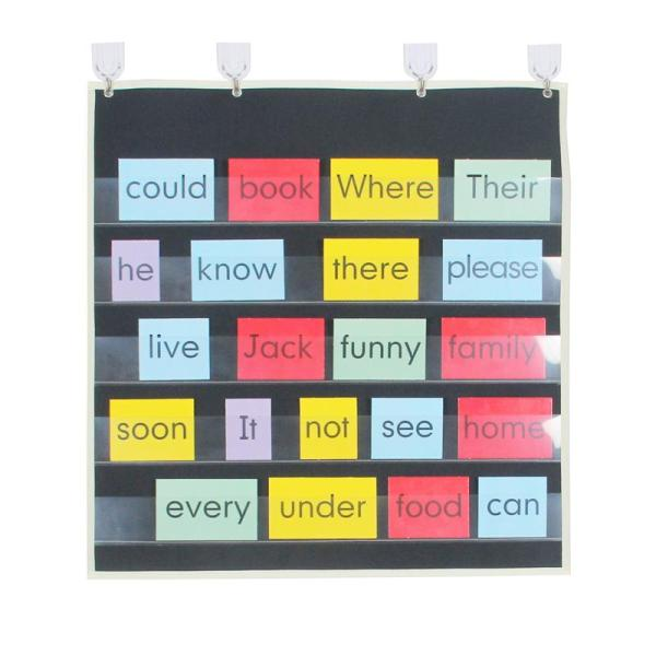 Pocket Chart 5 Layer Children Learning Spelling English Learn to Read Word Cards Hanging Bag Children xi Word Card Hang Bag
