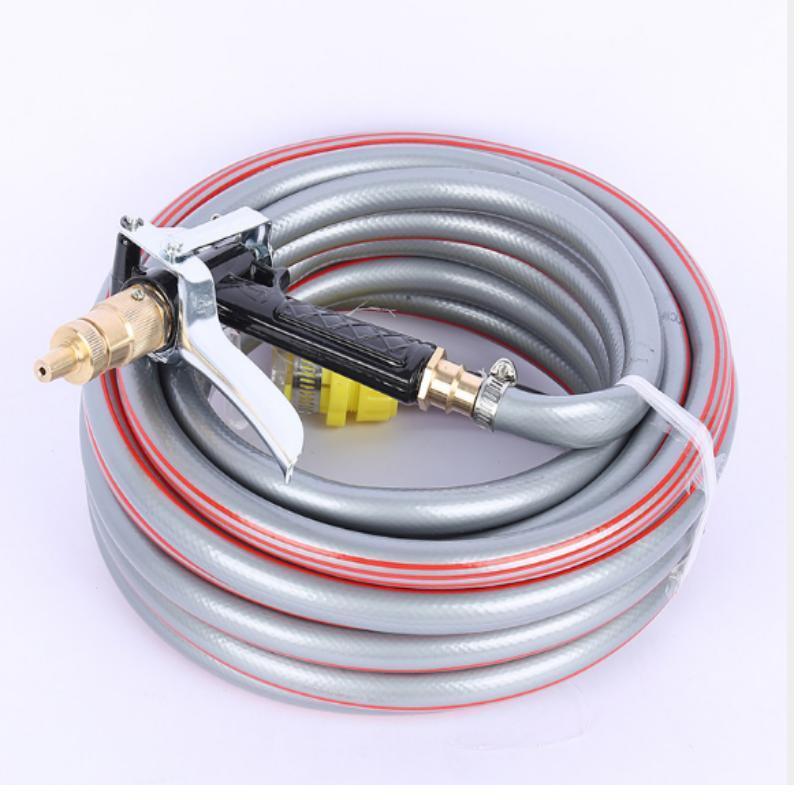 Bộ dây và vòI xịt tăng áp lực nươc 300% loạI 15m 4 TI00 (Xám) ,thiết bị phụ kiện oto,xe máy