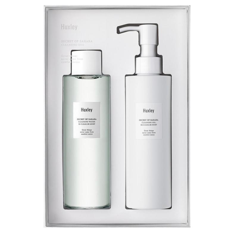 Bộ sản phẩm làm sạch da cao cấp Huxley - Cleansing Duo (Cleansing Water + Cleansing Gel)