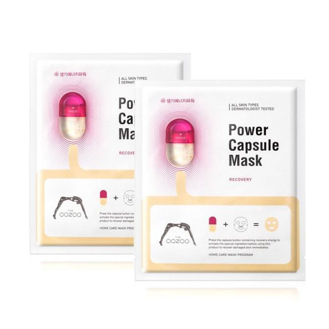 Mua Combo 2 Mặt Nạ Sieu Dưỡng Chất Giup Phục Hồi Va Trẻ Hoa Lan Da The Oozoo Power Capsule Mask Recovery 20Ml X2 Trực Tuyến