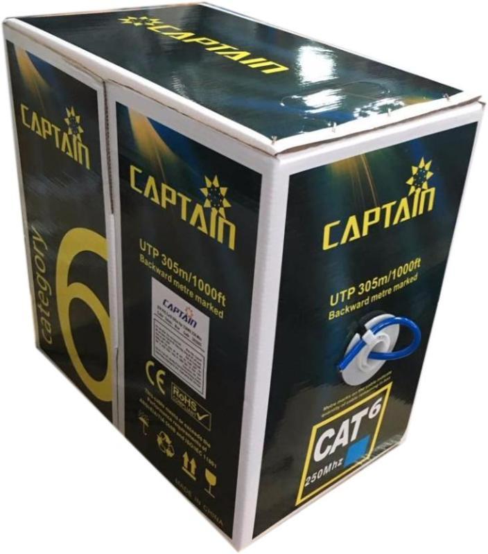 Bảng giá Cuộn dây cáp mạng Captain Cat6 UTP CCA BR 305m xanh Phong Vũ