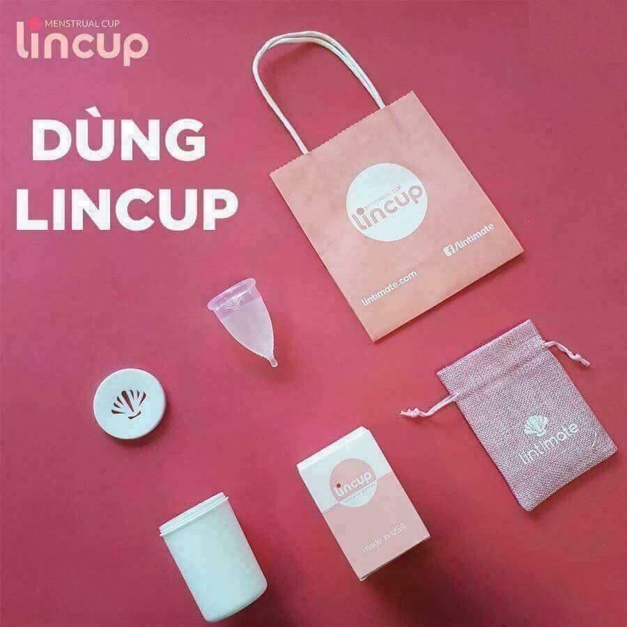 Hình ảnh Cốc nguyệt san Lincup + Tặng cốc tiệt trùng + Túi vải