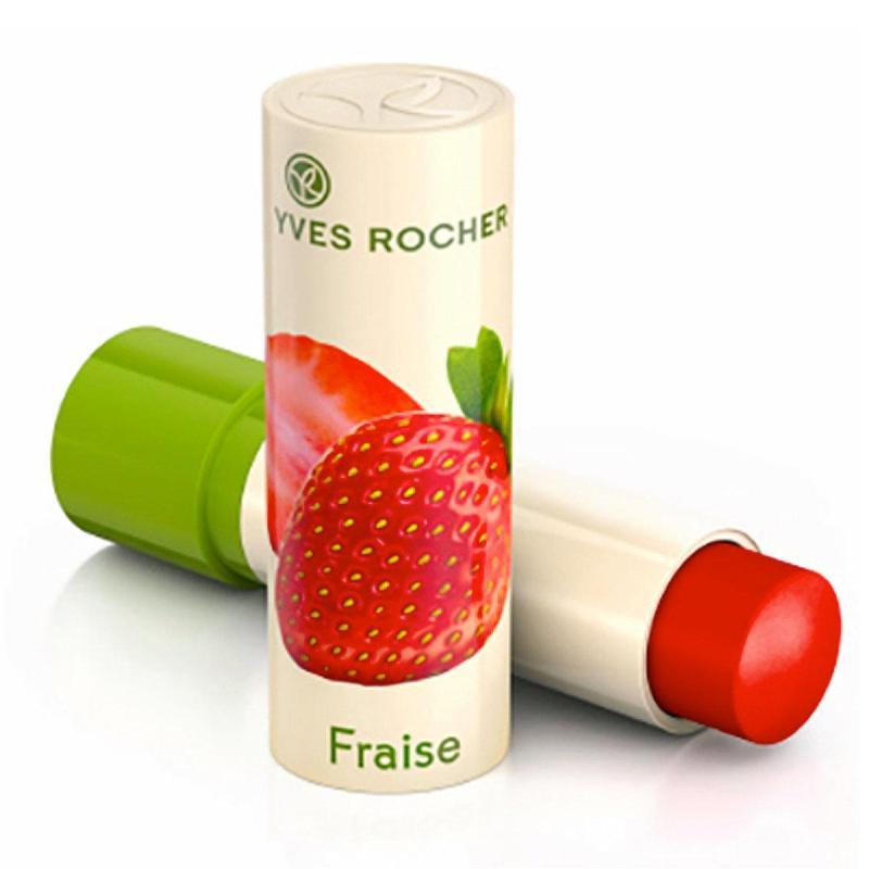 Son Dưỡng Môi Chiết Xuất Từ Dâu Tây Yves Rocher Strawberry Lip Balm 4.8g nhập khẩu