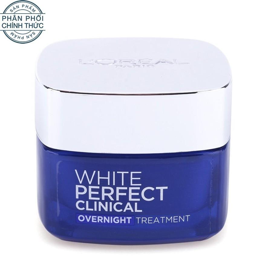 Kem dưỡng trắng mịn và giảm thâm nám ban đêm L'Oreal Paris White Perfect Clinical Night Cream 50ml