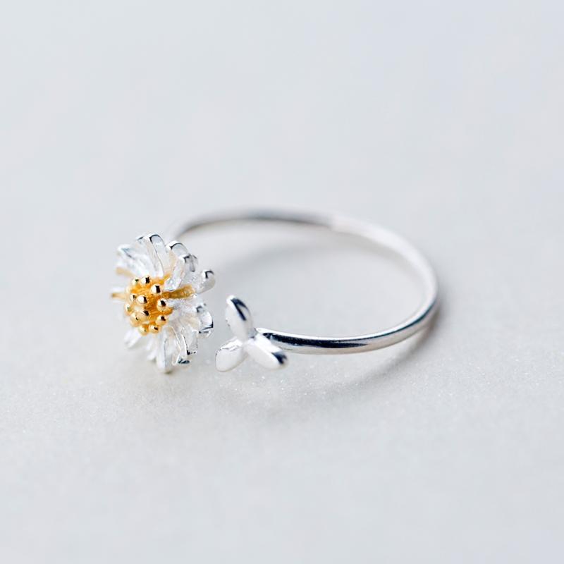 Cincin Perak 925 Daisy Wanita - 2 .