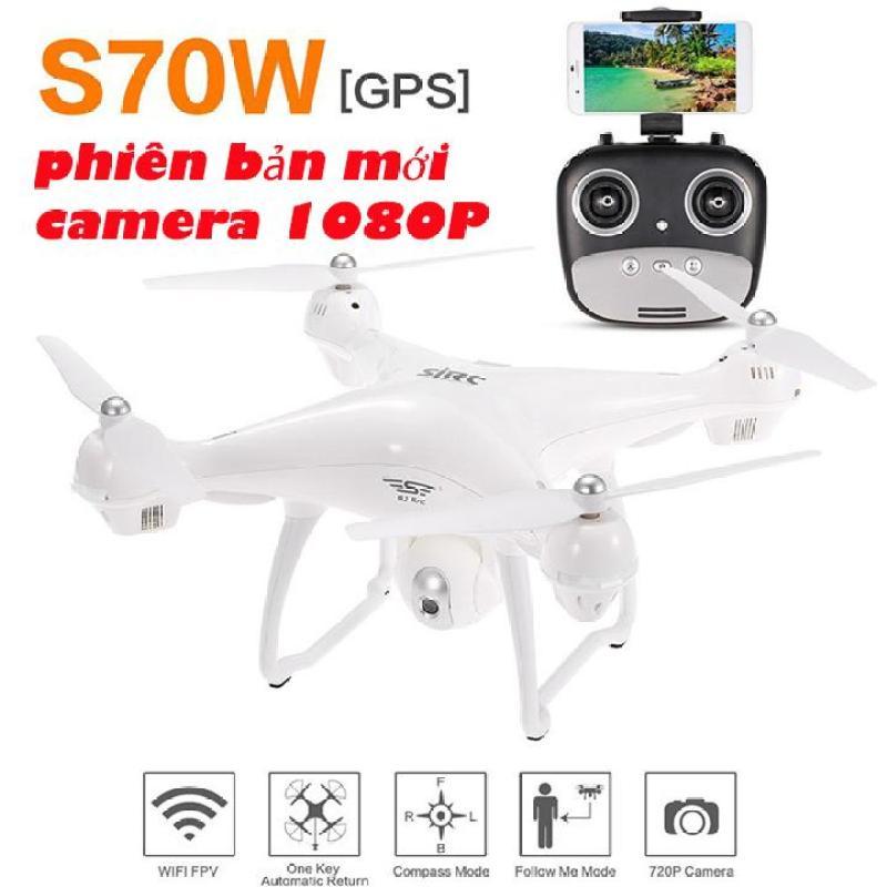 Máy bay flycam S70W-2GPS-1080P, camera xoay 90 độ, phiên bản New 2018 full HD 1080P ( Đối thủ Syma X8 Pro)