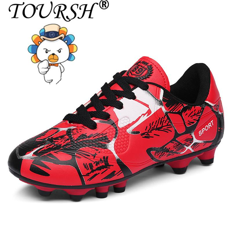 Hình ảnh TOURSH Men Boy Kids Soccer Cleats Turf Football Soccer Shoes TF Hard Court Sneakers Trainers Football Boots - intl