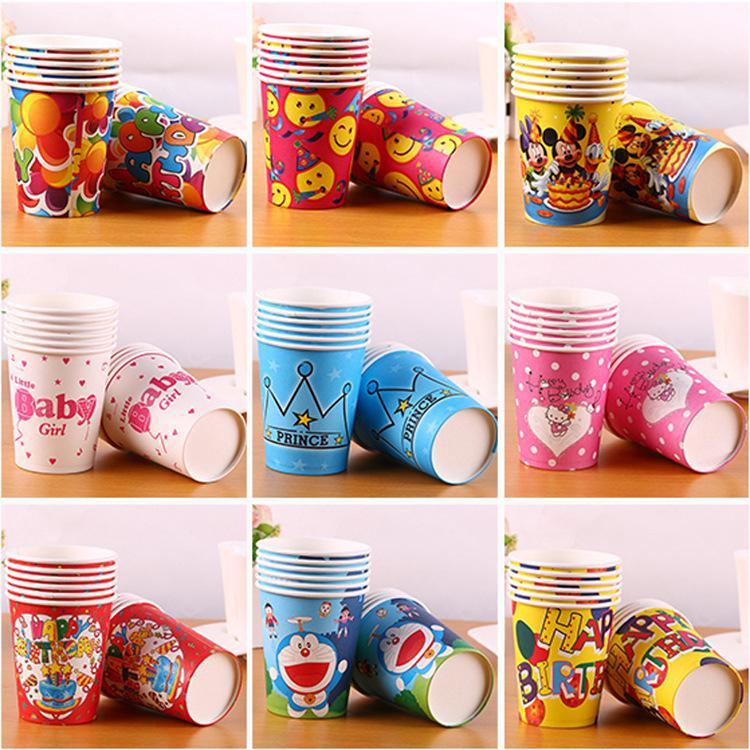 Hình ảnh Set 10 cốc giấy hoạt hình