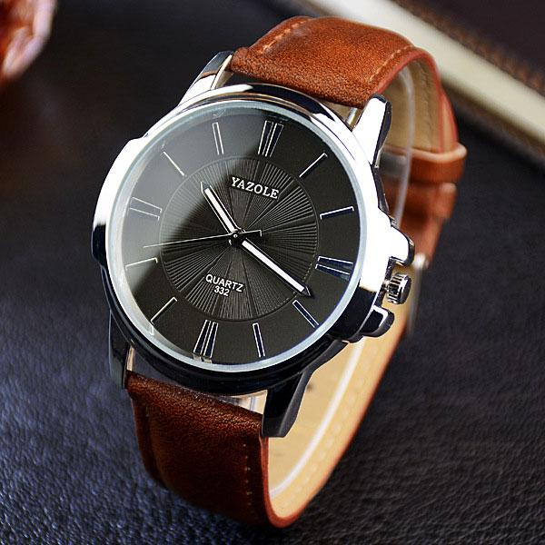 SB36 Fashion Quartz Watch Men Watches Luxury Male Clock Leather Strap  Casual Business Mens Wrist Watch Malaysia