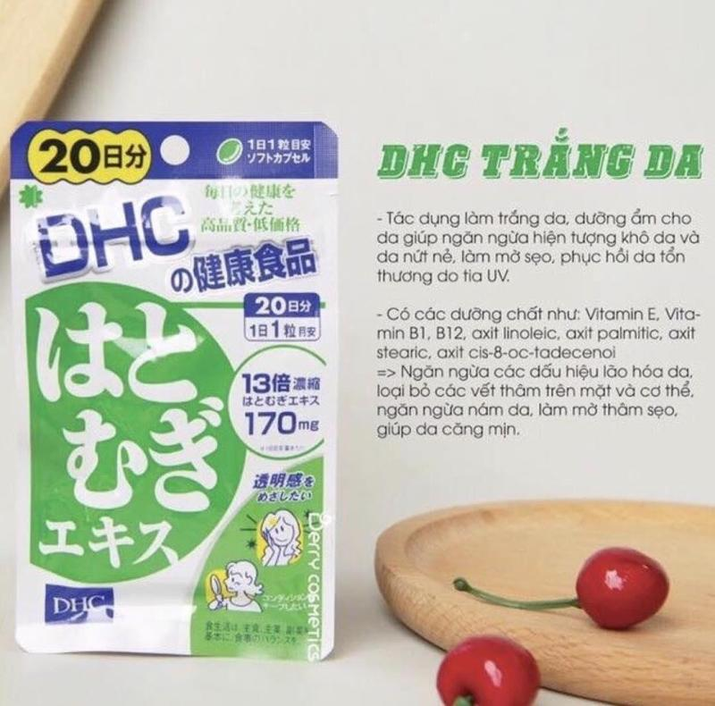 Viên uống trắng da Coix Extract DHC Nhật Bản (20 ngày) - 20 viên/gói