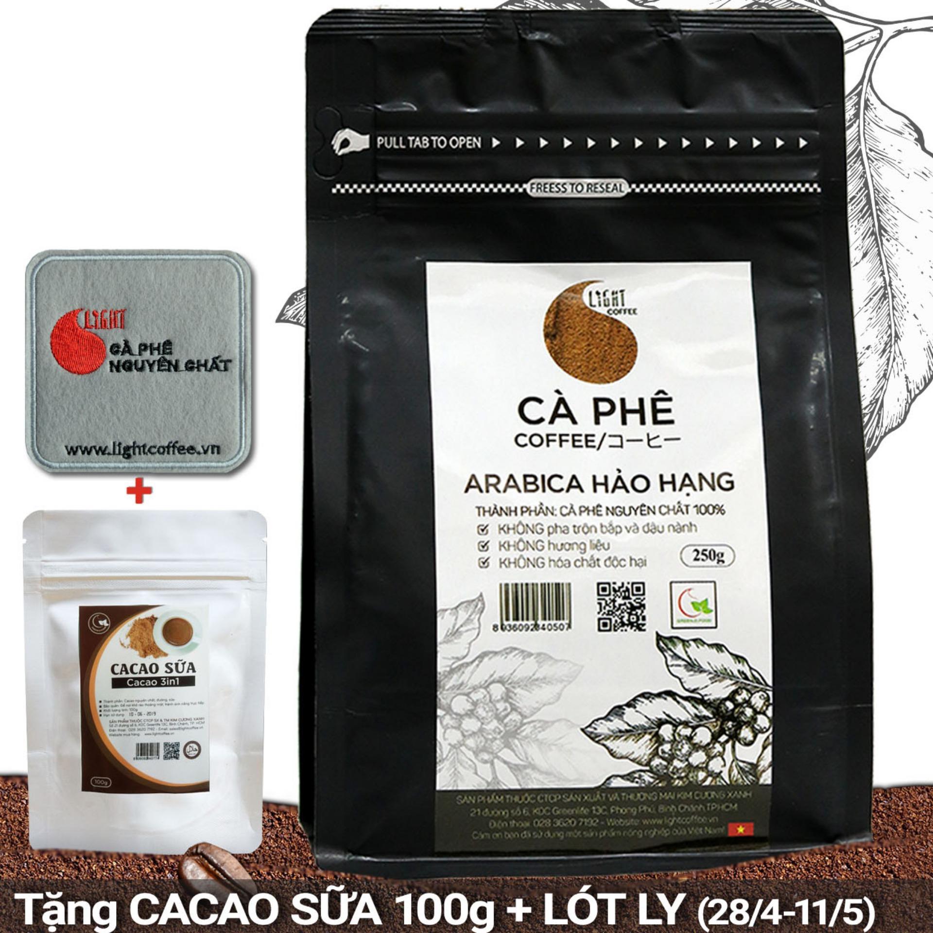 Chiết Khấu Sản Phẩm Ca Phe Bột Nguyen Chất 100 Arabica Hảo Hạng Light Coffee Goi 250G