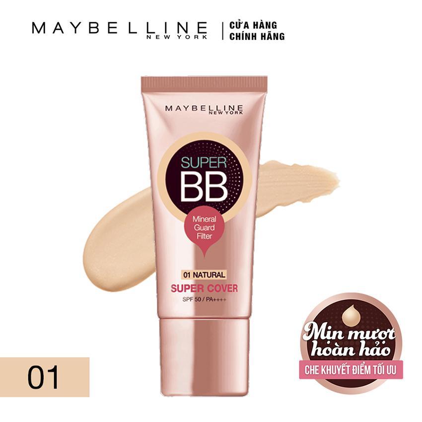 Hình ảnh Kem trang điểm siêu mịn bảo vệ Maybelline New York BB Super cover SPF50/PA++++ 30ml (Tông tự nhiên)