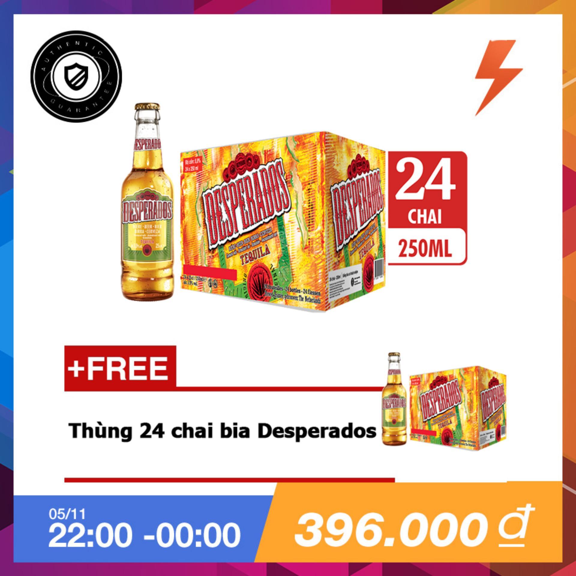 Bán Thung 24 Chai Bia Desperados Hương Vị Tequila 250Ml Tặng Thung 24 Chai Bia Desperados Rẻ
