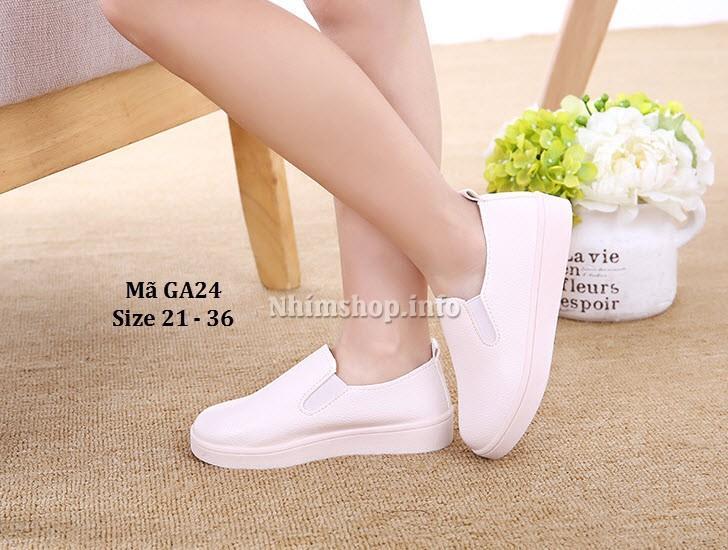 Hình ảnh Giày Slip Ons Trẻ Em 1 - 12 Tuổi màu trắng GA24