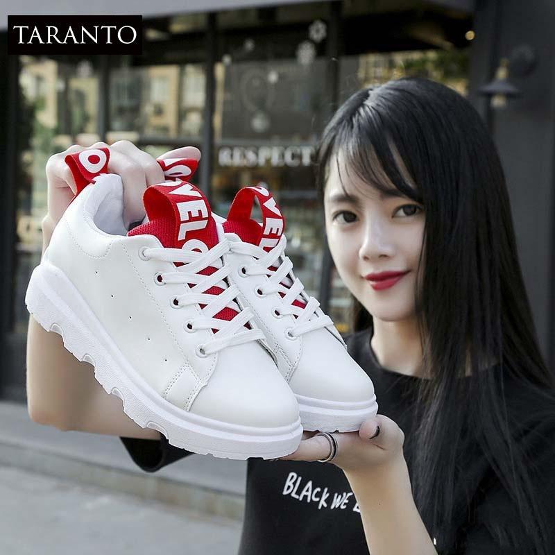 Hình ảnh Giày thời trang thể thao nữ TARANTO TRT-GTTNU-04-TD ( màu trắng đỏ)