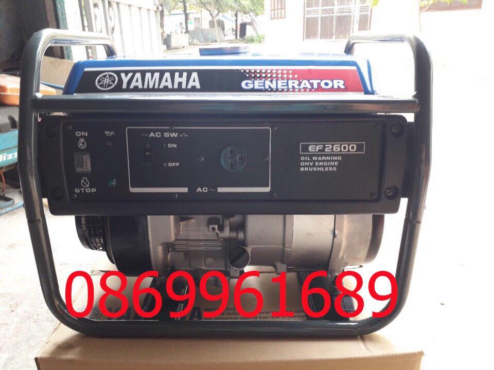 Máy phát điện Yamaha EF 2600 2,5kw xăng, giật tay