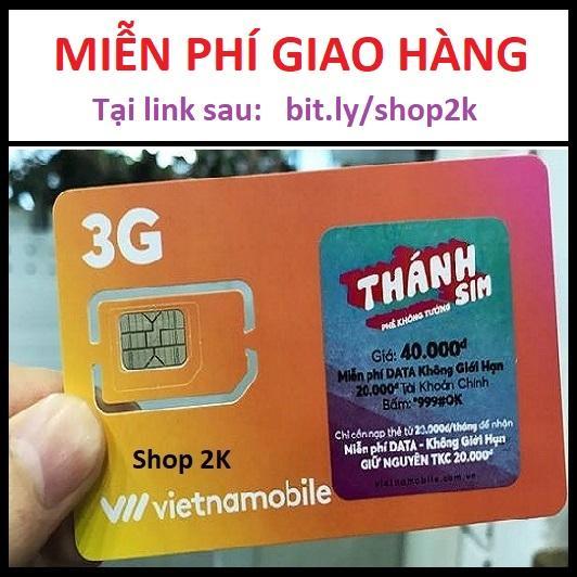 Thánh SIM Vietnamobile 120GB/Tháng - Thanh sim