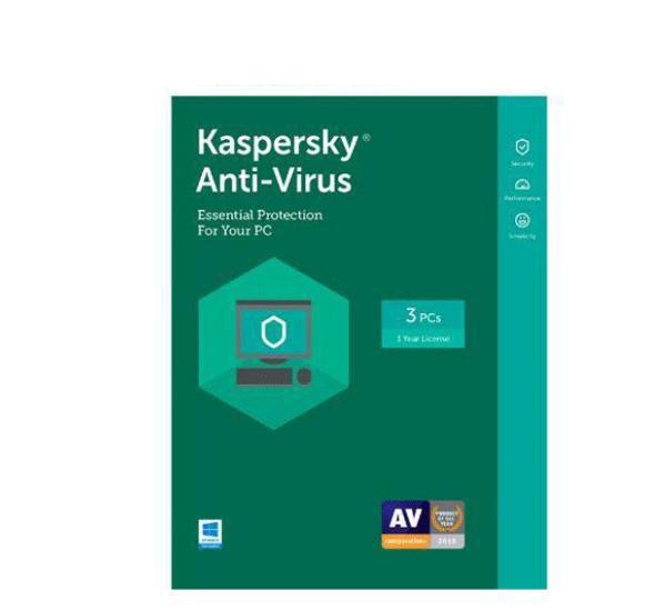 Hình ảnh Phần mềm Kaspersky Antivirus 3 máy tính 2018