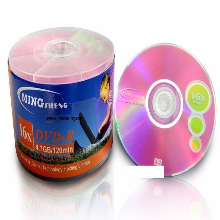 Hình ảnh Đĩa trắng DVD MINGSHENG 50 cái 1 lốc