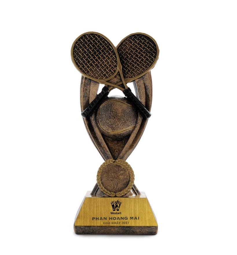 Hình ảnh Cúp quần vợt đôi 13133B 19cm