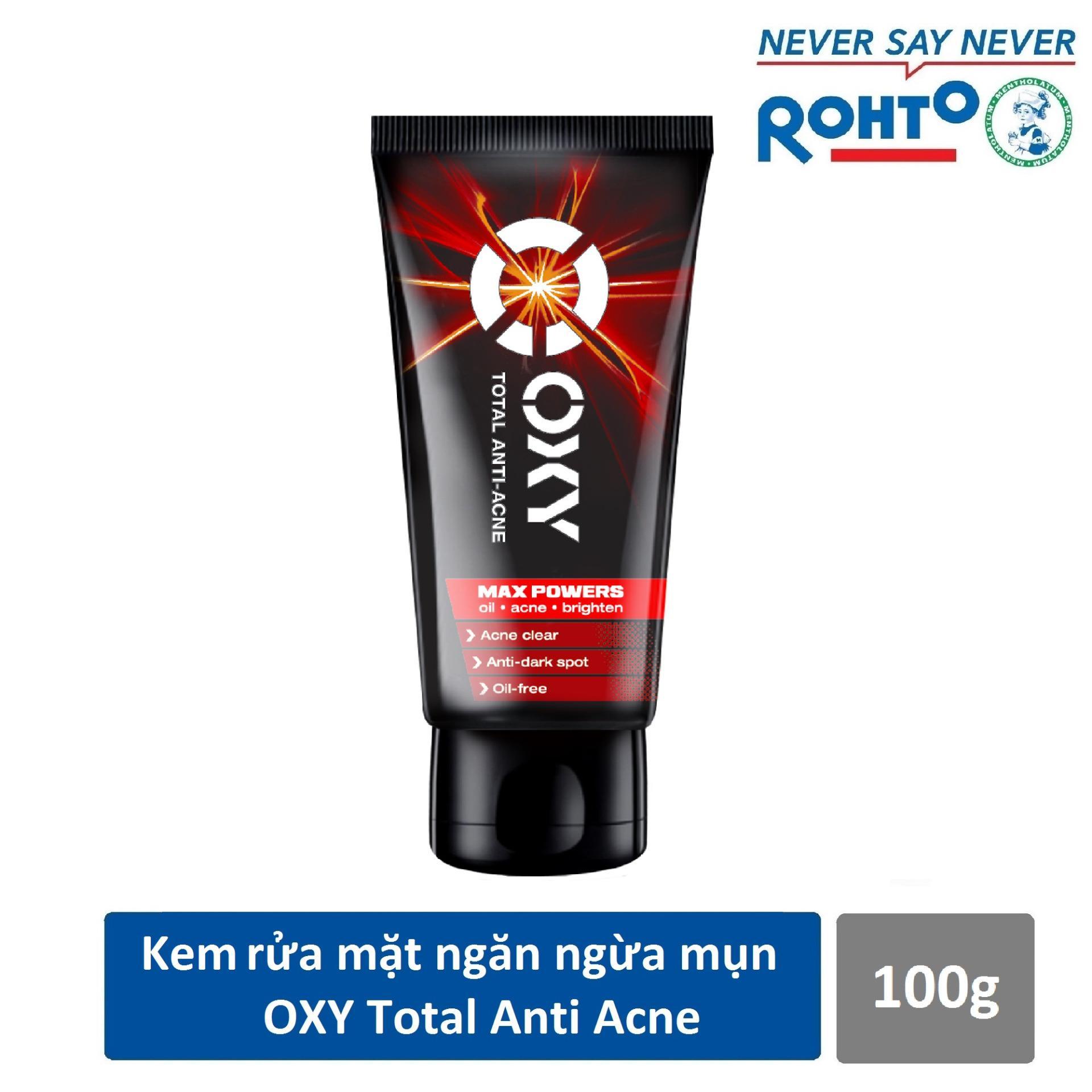 Hình ảnh Kem rửa mặt ngăn ngừa mụn cho nam Oxy Total Anti Acne 100g - CƠ HỘI TRÚNG IPHONE X