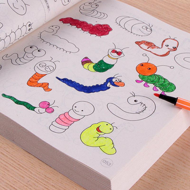 Sách tập tô 5000 hình + Tặng 12 bút màu siêu dễ thương cho bé thỏa sức sáng tạo nghệ thuật