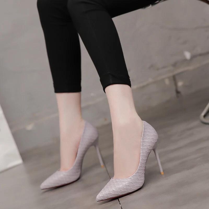 Hình ảnh Giày cao gót Quảng Châu vảy cá siêu hót thời trang phong cách Hàn Quốc mẫu mới 2018 siêu khuyến mãi