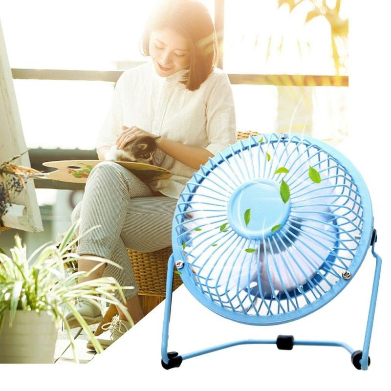 Bảng giá WOND Mini Metal USB Fan Quiet Desk Cooling Fan Home Office Use For Computer Laptop black Phong Vũ
