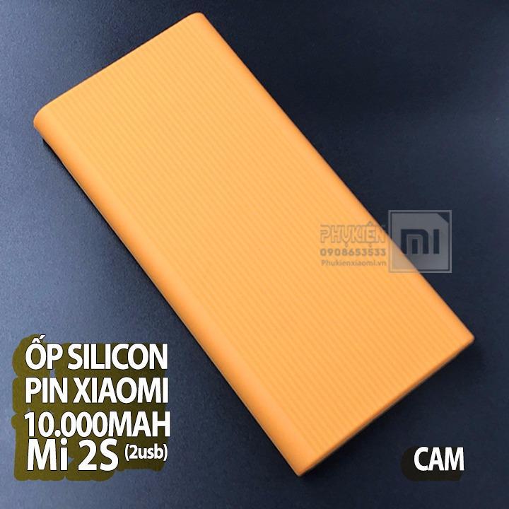 [5 màu] Ốp silicon dành cho Pin Xiaomi 10000mAh Gen Mi 2S- 2USB 2018 (Không kèm pin sạc)