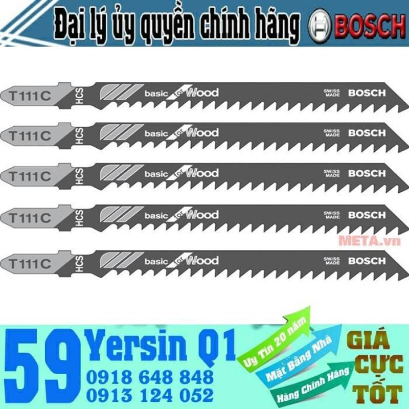 Bộ 5 lưỡi cưa gỗ T111C Bosch 2608630033