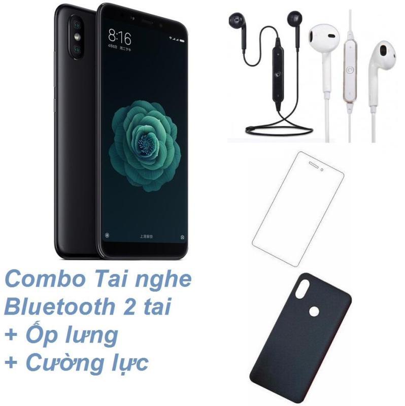 Xiaomi Mi 6X 64GB Ram 4GB (Đen) + Tai nghe Bluetooth 2 tai + Cường lực + Ốp lưng - Hàng nhập khẩu