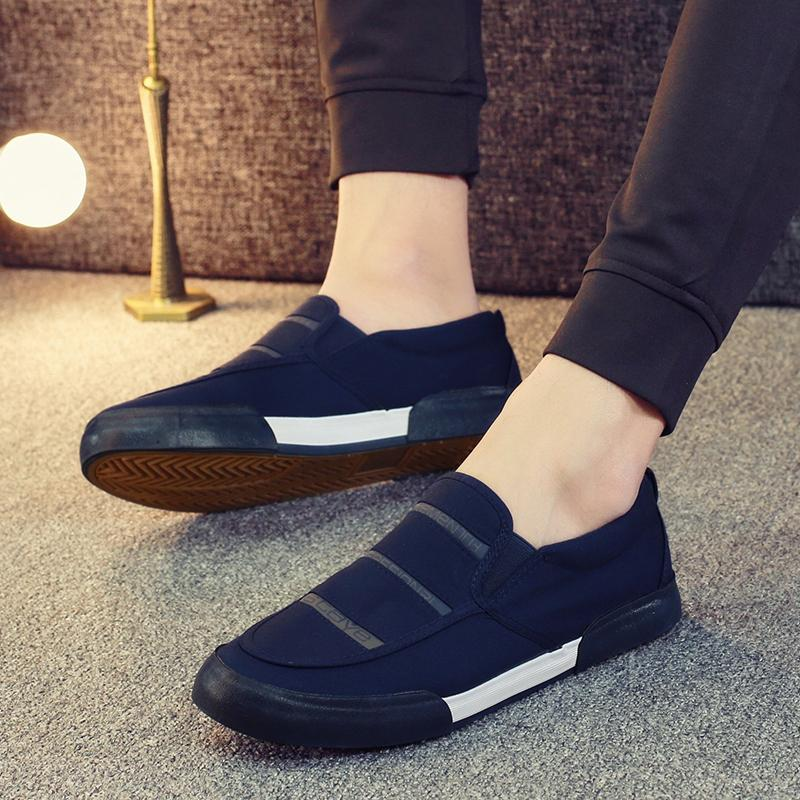 Rendah Sepatu kanvas sepatu pria anak muda mudah dipakai Sepatu malas pria  bernapas sepatu kain casual 7b75e224d3