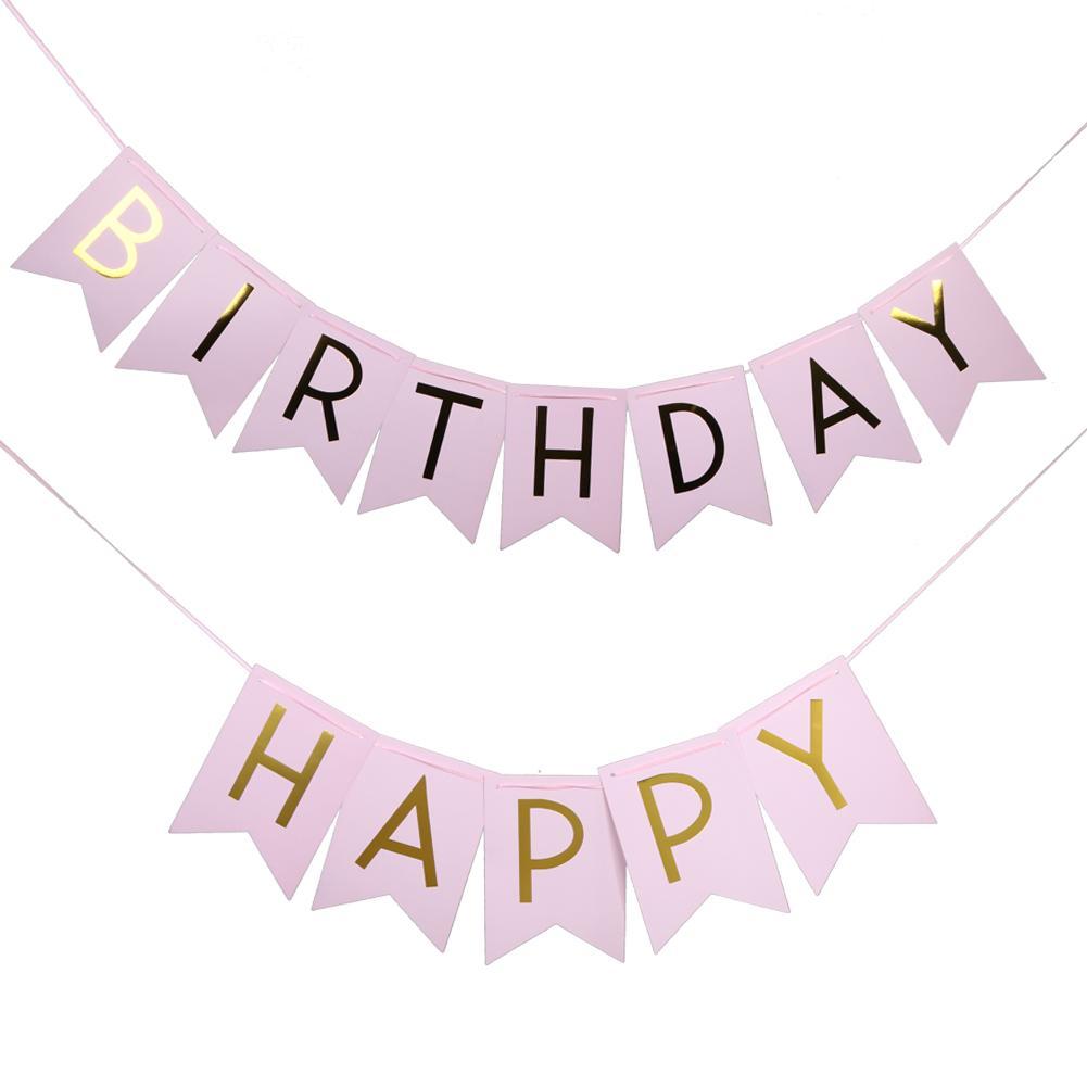 Hình ảnh Dây chữ Happy Birthday Metallic 4 màu