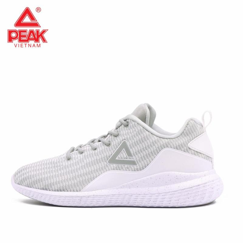 Giày thể thao Peak Casual E81347E – Trắng Ghi
