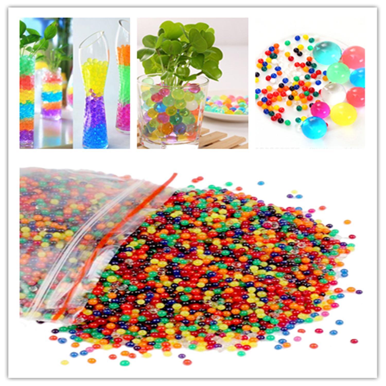 Hình ảnh 6000 CÁI hạt giống nước 100 grams Hạt Nho Chai Nước Hình Chai Ăn Trang Trí Nhà Trẻ Em Nhận Được Màu Sắc-Quốc Tế