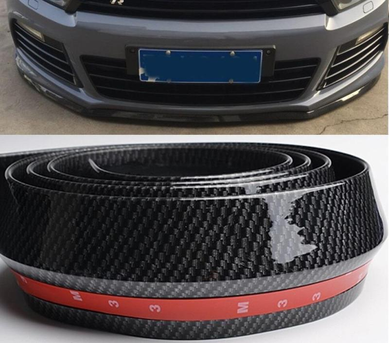 Líp Samurai vân carbon chống xước bảo vệ gầm ô tô màu đen