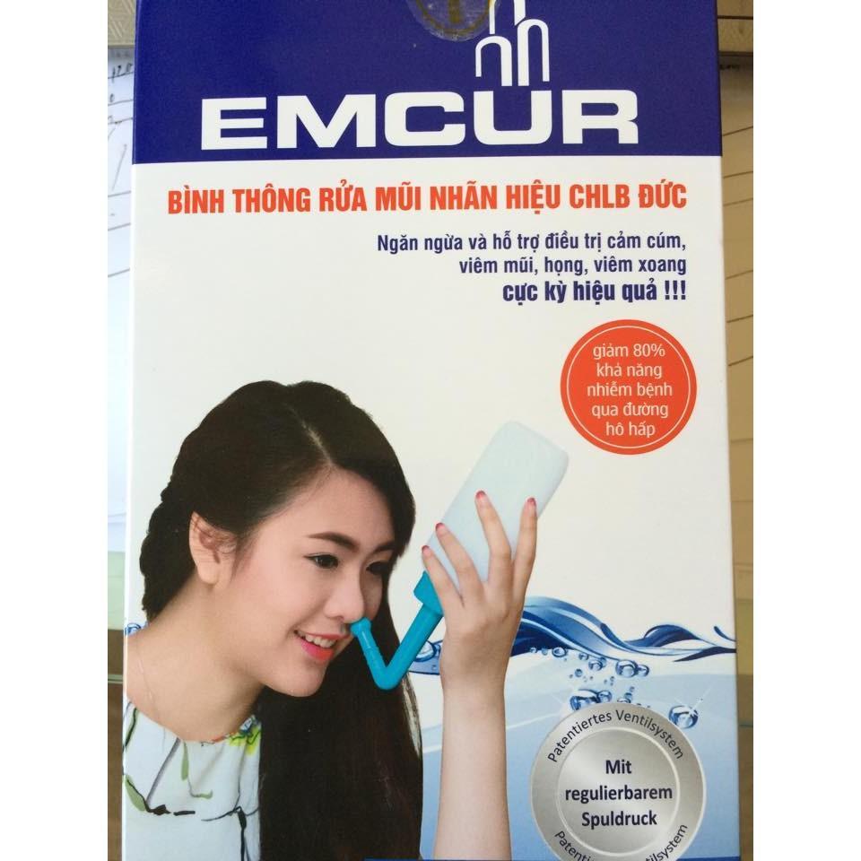 Bình rửa mũi EMCUR CHLB Đức chống viêm mũi dị ứng cao cấp