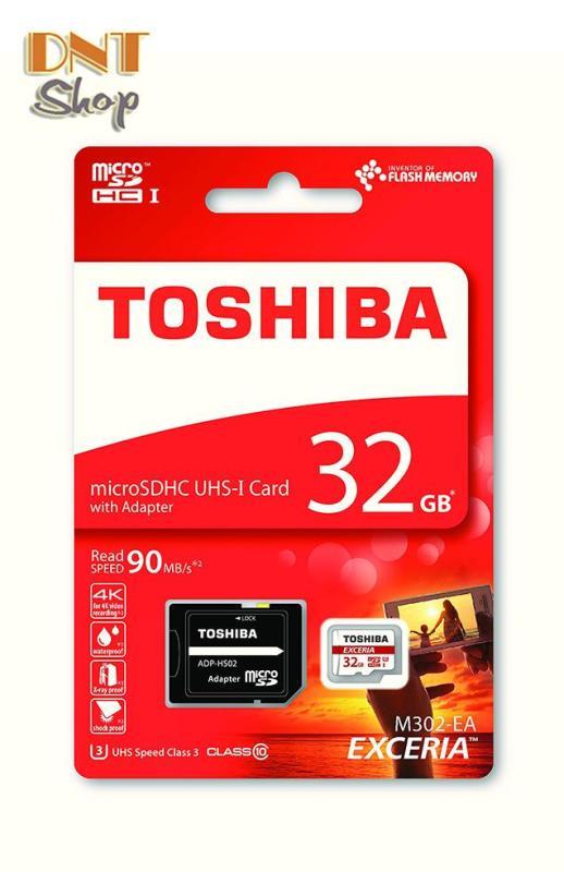 Thẻ nhớ MicroSDHC Toshiba Exceria M302-EA U3 32GB 90MB/s (W:30MB/R:90MB) (THN-M302R0320EA)