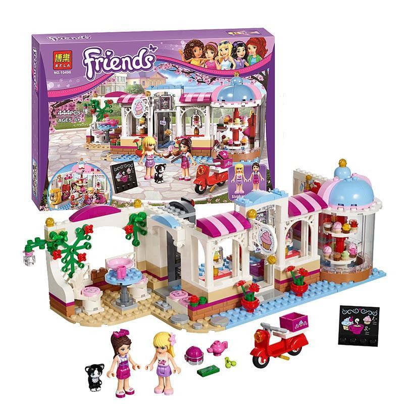 (Tặng xếp hình gỗ 10k) Lego Bela Friends 444pcs -Quán Cà Phê Bánh Ngọt Heartlake10496