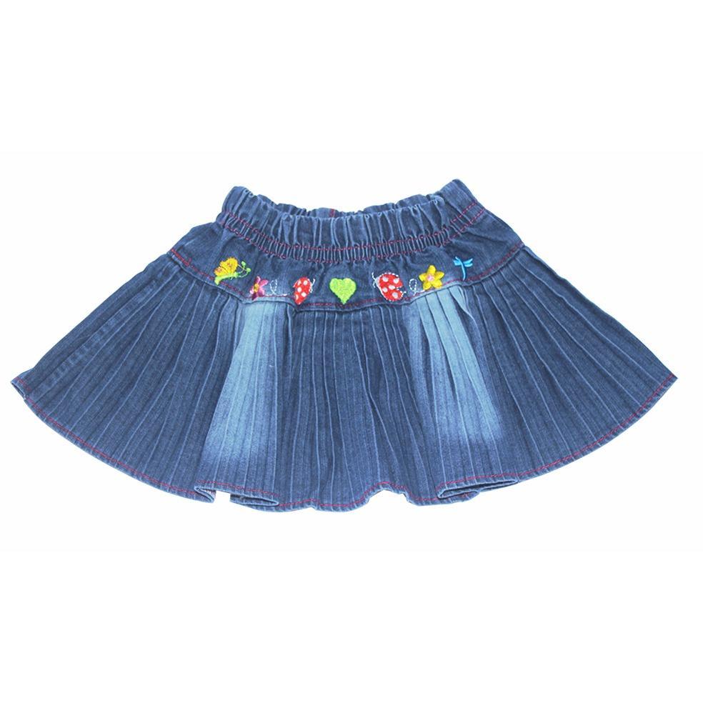 Váy DENIM xòe cho bé gái 1-10 tuổi Tri Lan VBG002