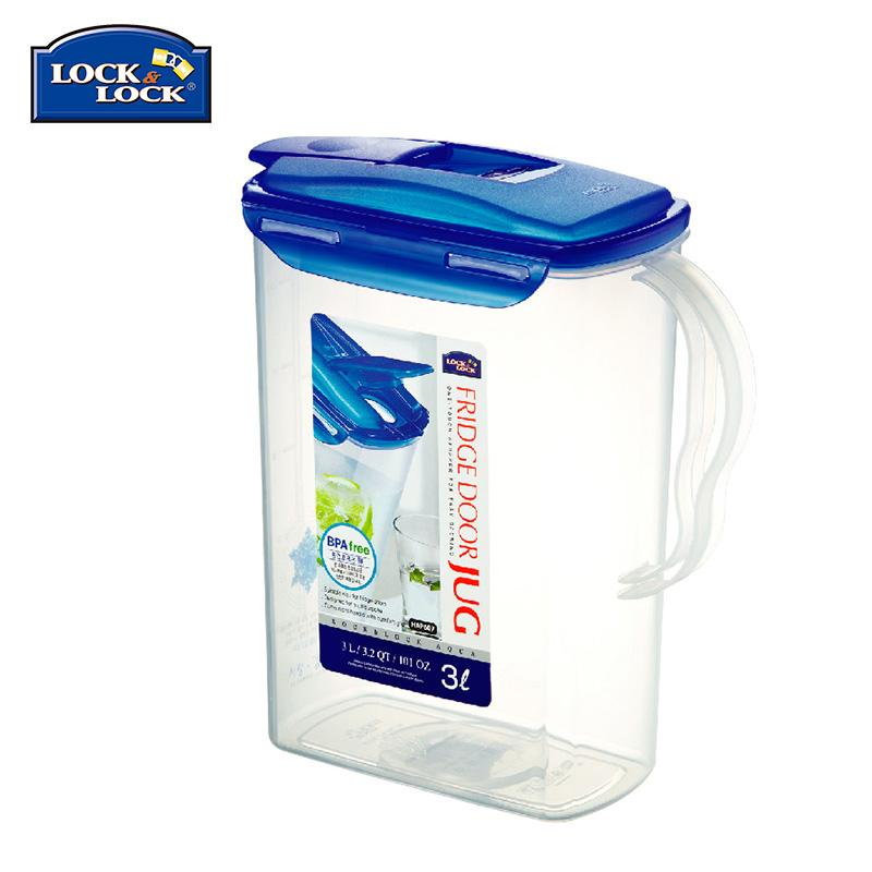 South Korea Lock&lock Cold Water Bottles Beverage Bottle Large Capacity Glass Kettle Water Storage Bottle Travel Pot Juice Jugs 3l By Taobao Collection.