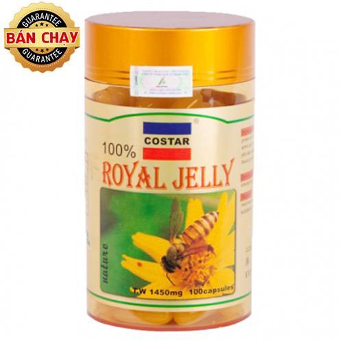 Sữa Ong Chúa Costar Royal Jelly Soft Gel Capsules 1450mg (100 viên)