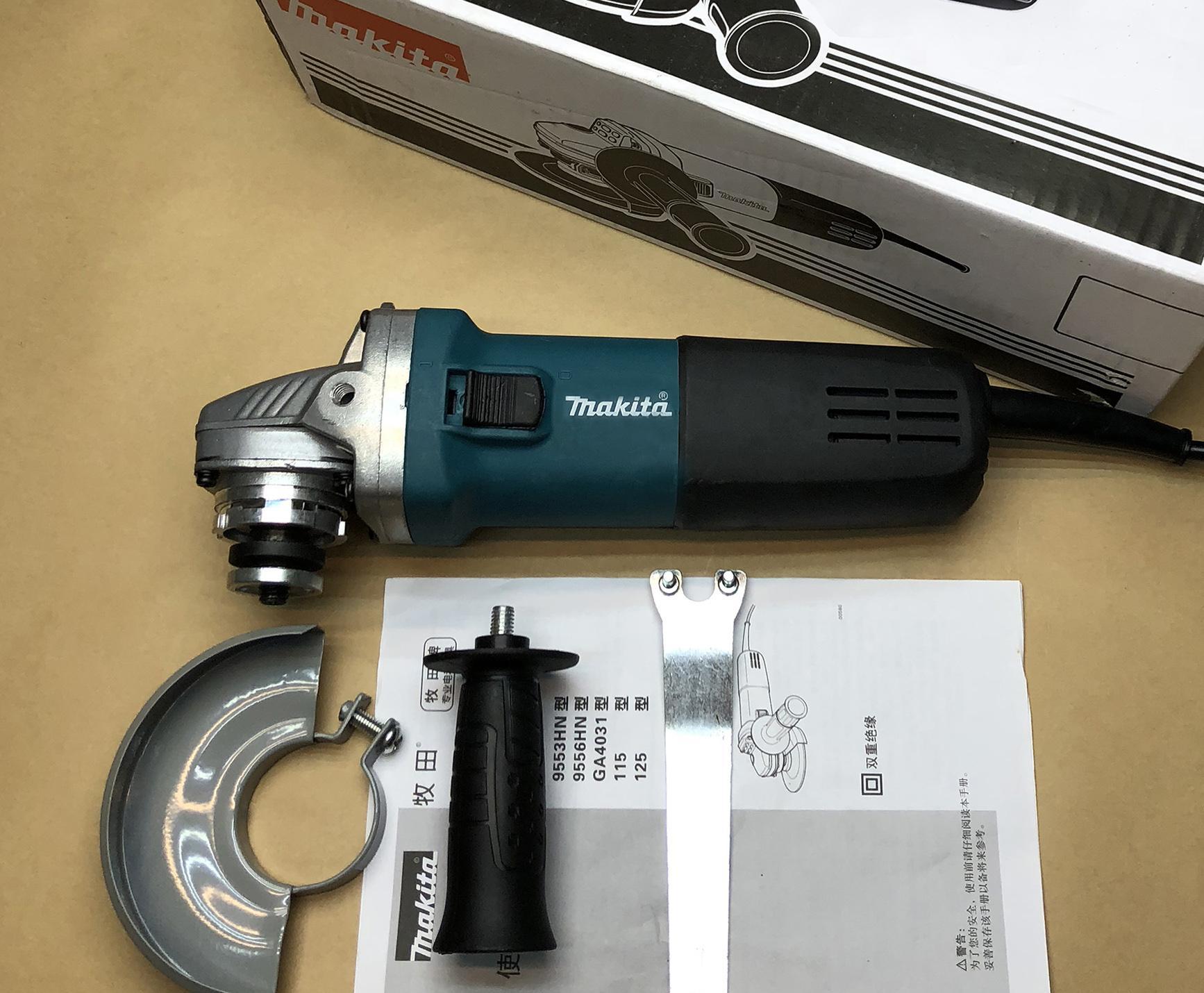 Máy mài góc máy cắt cầm tay Makita 9553NB 930W - Tặng 2 lưỡi cắt + 2 chổi than