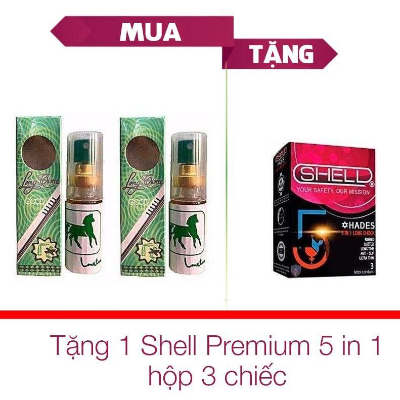 Hình ảnh Bộ 2 Chai Tinh Chất Longtime Thái kéo dài thời gian quan hệ và trị xuất tinh sớm + Tặng 1 Hộp Bao Cao Su Shell ( 3 chiếc ) - [ Gunshop-TC04 ]